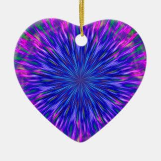 """""""Purple Heart"""" Ceramic Ornament"""