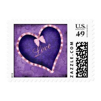 Purple Heart con amor Timbre Postal