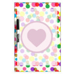 Purple Heart Confetti Color Splashes Polka Dots Dry Erase Whiteboards