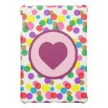 Purple Heart Confetti Color Splashes Polka Dots Cover For The iPad Mini