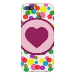 Purple Heart Confetti Color Splashes Polka Dots Cases For iPhone 5