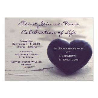 """Purple Heart conmovedor en un monumento de la Invitación 5"""" X 7"""""""