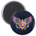 Purple Heart Design 2 Inch Round Magnet