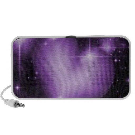 Purple Heart Doodle by OrigAudio iPhone Speaker