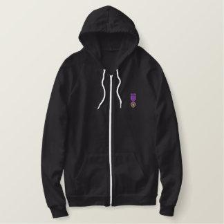 Purple Heart Embroidered Hoodie