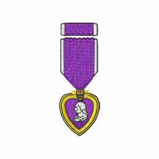 Purple Heart Embroidered Polo Shirt