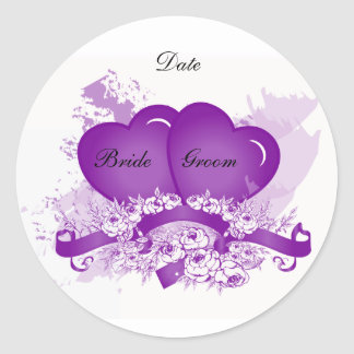 Purple Heart Envelope Seal Sticker Template