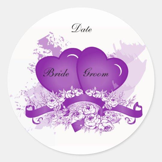 purple heart envelope seal sticker template zazzle com
