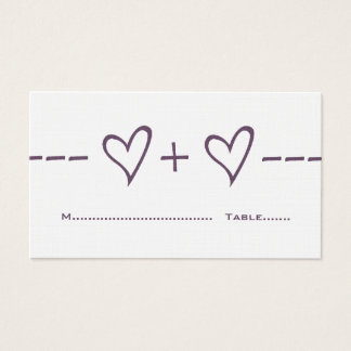 Purple Heart Equation Place Card
