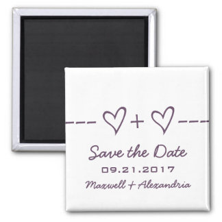 Purple Heart Equation Save the Date Magnet