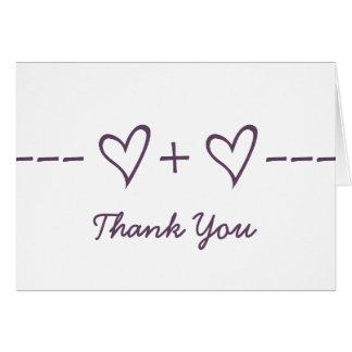 Purple Heart Equation Thank You Card