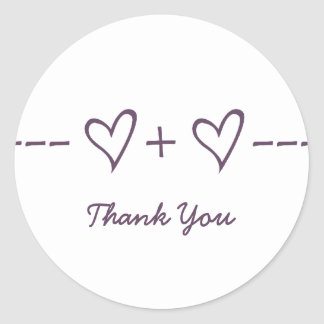 Purple Heart Equation Thank You Stickers