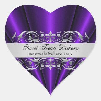 Purple Heart Fan Cupcake Baking Label Sticker