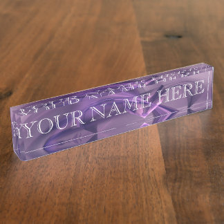 Purple Heart Fractal Name Plate