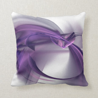 Purple Heart Fractal Pillow
