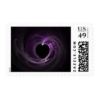Purple Heart Fractal Stamp