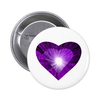 Purple Heart 'Heart' button white