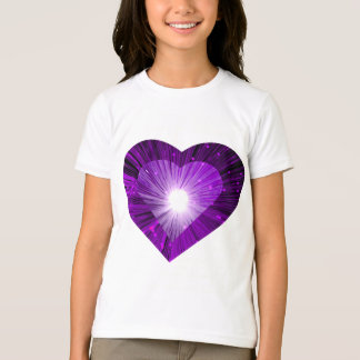 Purple Heart 'heart' t-shirt girls ringer