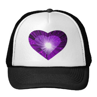 Purple Heart 'heart' trucker hat black
