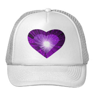 Purple Heart 'heart' trucker hat white