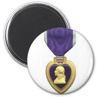 Purple Heart Imán Redondo 5 Cm
