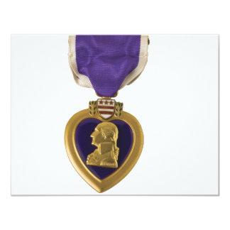 """Purple Heart Invitación 4.25"""" X 5.5"""""""