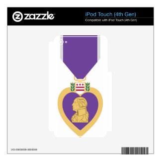 Purple Heart iPod Touch 4G Decals