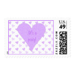 Purple Heart Its a Party Postage Stamps