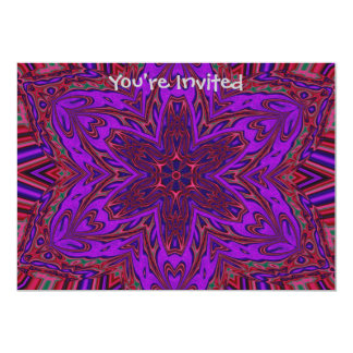 Purple Heart Kaleidoscope Design Card