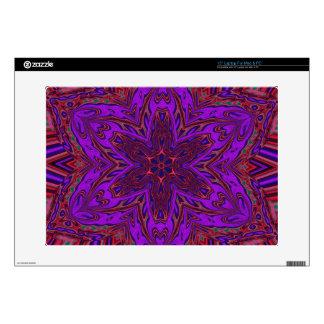 Purple Heart Kaleidoscope Design Laptop Skins