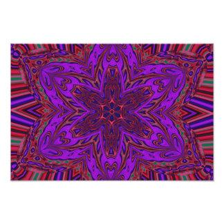 Purple Heart Kaleidoscope Design Photographic Print