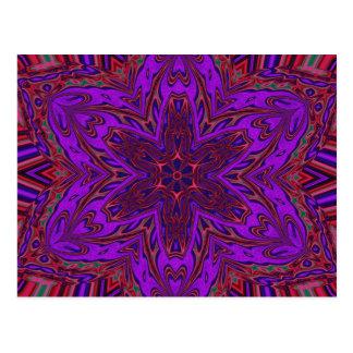 Purple Heart Kaleidoscope Design Postcard