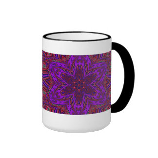 Purple Heart Kaleidoscope Design Ringer Mug