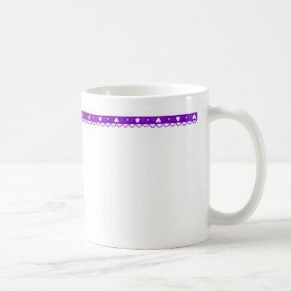 purple heart lace trim mug