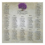 Purple Heart Leaf Tree Seating Chart 12 Tables