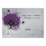 Purple Heart Leaf Tree Table Place Cards Business Card Templates