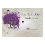 Purple Heart Leaf Tree Table Place Cards Business Card