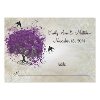 Purple Heart Leaf Tree Table Place Cards Large Business Cards (Pack Of 100)