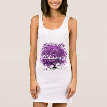 Purple Heart Leaf Tree Wedding Brides Tunic Dress
