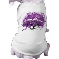 Purple Heart Leaf Tree Wedding Dog Ring Bearer Tee