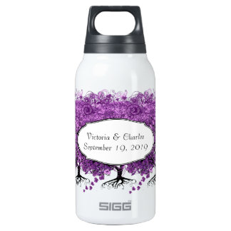 Purple Heart Leaf Tree Wedding Insulated Water Bottle