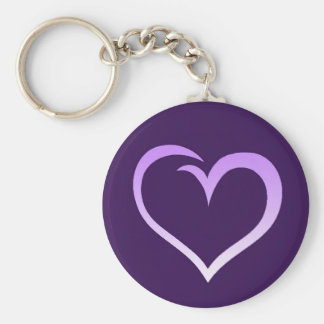Purple Heart Logo Keychain