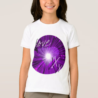 Purple Heart 'Love and kisses' girls'  t-shirt