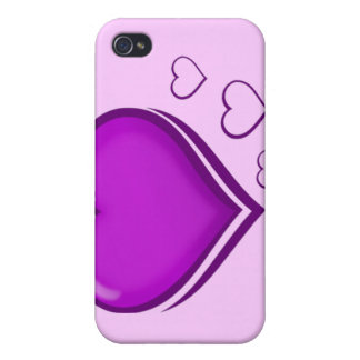 Purple Heart-Loves_ Cases For iPhone 4