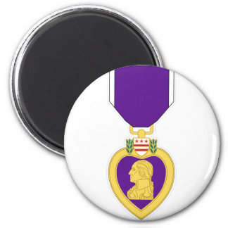 Purple Heart Medal 2 Inch Round Magnet