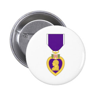Purple Heart Medal Pinback Buttons