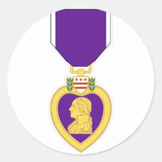 Purple Heart Medal Classic Round Sticker