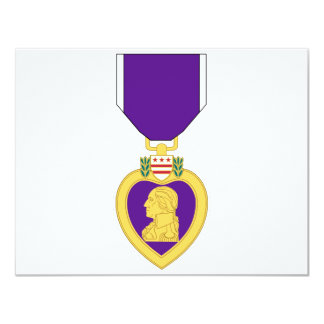 Purple Heart Medal Custom Invitation