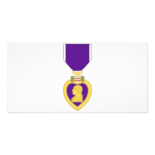 Purple Heart Medal Photo Card