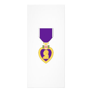 Purple Heart Medal Rack Card Design